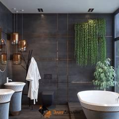 Частный коттедж: Ванные комнаты в . Автор – ЭлитДизайн - студия дизайна интерьера