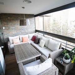 Reforma de una terraza en Chamartín por Vivienda Sana: Terrazas de estilo  de Vivienda Sana