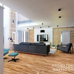 Projekt salonu w stylu industrialnym: styl , w kategorii Salon zaprojektowany przez Projektowanie Wnętrz Online