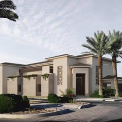 Fachada Principal: Casas unifamiliares de estilo  por Adriel Padilla Arquitectos