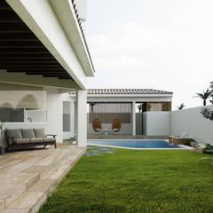 Jardín: Jardines de estilo mediterraneo por Adriel Padilla Arquitectos