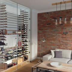 Cave à vin résidentielle: Cave à vin de style de style Moderne par Millesime Wine Racks