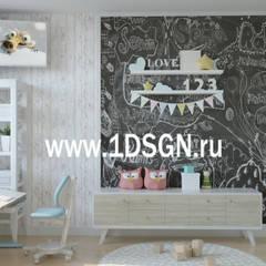 Habitaciones para adolescentes de estilo  por Дизайн студия 'Дизайнер интерьера № 1'