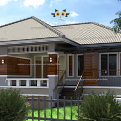 Casas multifamiliares de estilo  por แบบบ้านออกแบบบ้านเชียงใหม่