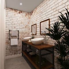 industrial Bathroom by Entreponto Arquitetura