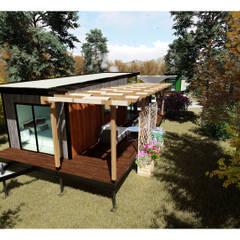 Maisons préfabriquées de style  par VAGOON HOUSE