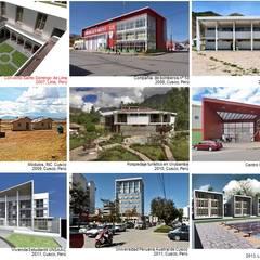 Proyectos de arquitectura: Condominios de estilo  por CARLOS SOTO ARQUITECTO, Moderno Concreto