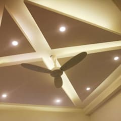 celling bedroom:  Flat roof by KUMAR INTERIOR THANE