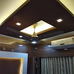 false celling:  Flat roof by KUMAR INTERIOR THANE