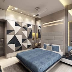 3bhk completed project mira road:  Bedroom by KUMAR INTERIOR THANE