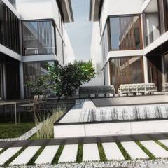 Jardines en la fachada de estilo  por LDP Mimarlık Ltd.Şti.