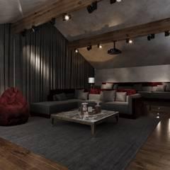 Дом в Подмосковье 700м2: Медиа комнаты в . Автор – ST-buro