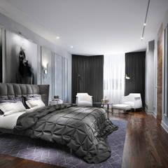 Квартира в Москве 200м2: Спальни в . Автор – ST-buro , Эклектичный