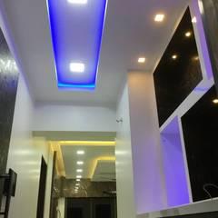 4bhk  completed interior project at acme ozone manpada ghodbundar thane:  Front yard by KUMAR INTERIOR THANE