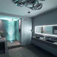 Master Badezimmer:  Badezimmer von Lumoplan Lichtplanung Berlin
