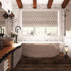 Baños de estilo mediterráneo por Diveev_studio#ZI