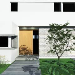 Acceso principal: Puertas de entrada de estilo  por Arquitectura Bur Zurita