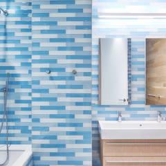 Tribeca Apartment:  Bathroom by Sarah Jefferys Design