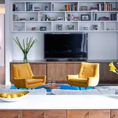 Tribeca Apartment:  Media room by Sarah Jefferys Design