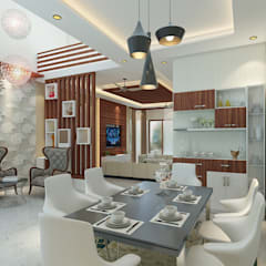 Independent Villa - Pune:  Dining room by DECOR DREAMS,Modern