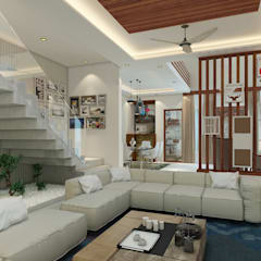 Independent Villa - Pune:  Stairs by DECOR DREAMS