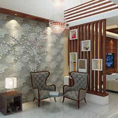 Independent Villa - Pune:  Corridor & hallway by DECOR DREAMS