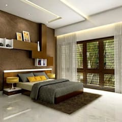 Independent Villa - Pune:  Bedroom by DECOR DREAMS