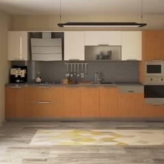 Nunu Yapı Mimarlık  – Meşe Kaplama Mutfak :  tarz Ankastre mutfaklar