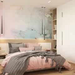 Белый Эскиз: iskandinav tarz tarz Yatak Odası