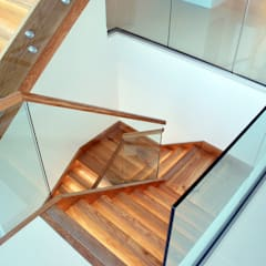 Family Home in Swanage, Dorset:  Stairs by David James Architects & Partners Ltd