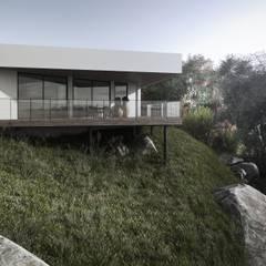 HOUSE BY THE RIVER:  Landhaus von Tobi Architects