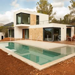 Modelo Estepona en Mallorca: Casas prefabricadas de estilo  de Casas inHAUS