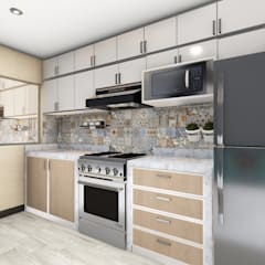 Cocina: Cocinas equipadas de estilo  por Minkarq. Arquitectura y construcción