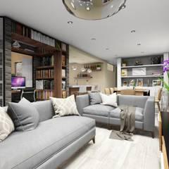 Sala: Salas / recibidores de estilo moderno por Minkarq. Arquitectura y construcción