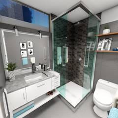Remodelación de vivienda: Baños de estilo  por Minkarq. Arquitectura y construcción, Moderno