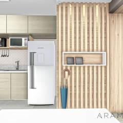 Apartamento UP: Corredores e halls de entrada  por ARAMADO arquitetura+interiores