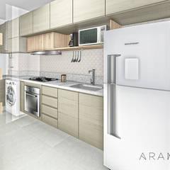 Apartamento UP: Cozinhas embutidas  por ARAMADO arquitetura+interiores
