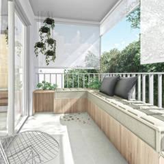 Apartamento UP: Terraços  por ARAMADO arquitetura+interiores