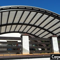 zadaszenie tarasu pergola tarasowa: styl , w kategorii Taras zaprojektowany przez P.H.U. Carport Planet Konstrukcje Drewniane