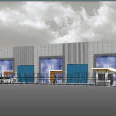 Anteproyecto Centro de Bodegas IMM: Bodegas de estilo  por Incubar: Arquitectura & Construcción