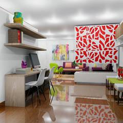 Estudio moderno: Estudios y despachos de estilo moderno por Omar Interior Designer  Empresa de  Diseño Interior, remodelacion, Cocinas integrales, Decoración