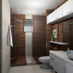 propuesta de baño: Baños de estilo  por Omar Interior Designer  Empresa de  Diseño Interior, remodelacion, Cocinas integrales, Decoración