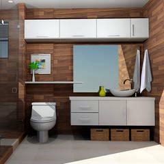 baños modernos: Baños de estilo  por Omar Interior Designer  Empresa de  Diseño Interior, remodelacion, Cocinas integrales, Decoración