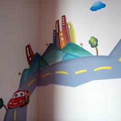 alcobas infantiles: Habitaciones para niños de estilo  por Omar Interior Designer  Empresa de  Diseño Interior, remodelacion, Cocinas integrales, Decoración