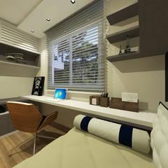 مكتب عمل أو دراسة تنفيذ INOVAT Arquitetura e interiores , حداثي خشب Wood effect
