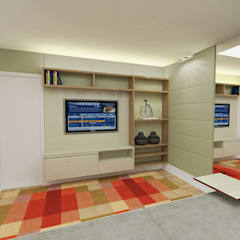 Sala de Tv: Eletrônicos  por Fabrício Cardoso Arquitetura