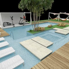 Garden Pool by Fabrício Cardoso Arquitetura