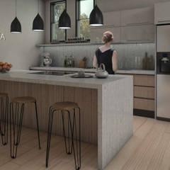 Interiorismo Casa De Sousa: Cocinas de estilo  por Arq. Gustavo García