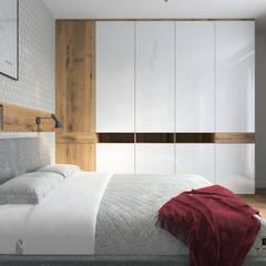 Sypialnia w stylu nowoczesnej elegancji: styl , w kategorii Sypialnia zaprojektowany przez MJanimo sp. z o.o