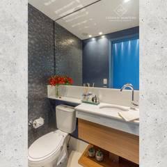 CASARIN MONTEIRO ARQUITETURA & INTERIORES의  욕실, 에클레틱 (Eclectic) 우드 우드 그레인
